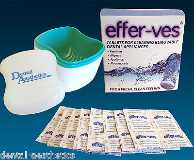 Effer-Ves & Cleaner Bath ~ Cleaning Tablets Box Retainer Case Invisalign Brite