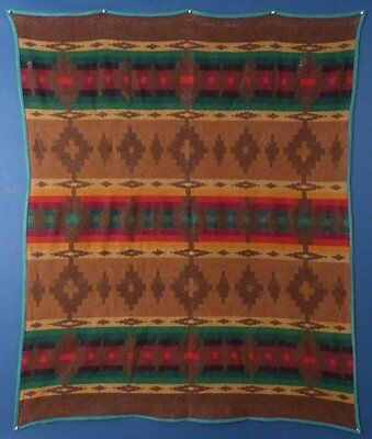 EARLY PENDLETON CAYUSE WOOL BLANKET, with EARLY BLACK LABLE