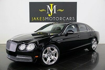 2014 Bentley Flying Spur W12 2014 FLYING SPUR W12, BLACK ON BLACK, RED STITCHING INSIDE, 10K MILES, PRISTINE