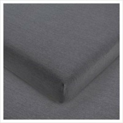 Flannelette Single Granite Grey Polycotton Fitted Sheet Jersey Comfy