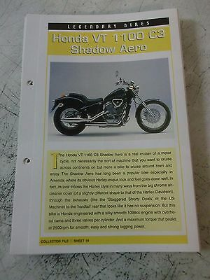 HONDA VT 1100 C3 SHADOW AERO collector file fact sheet.