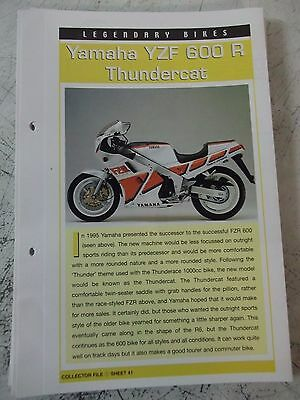 YAMAHA YZF 600 R THUNDERCAT collector file fact sheet.