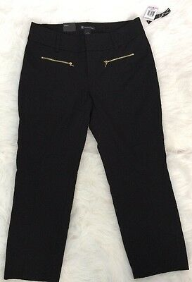INC Womens Size 6 NEW WITH TAG Black Straight Leg Curvy Fit Ankle Pants $59.50