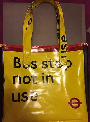 London Bus Stop Not In Use Tote Bag From Real Flag Cover