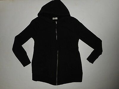 Old Navy Maternity Solid Black Hooded Full Zip Lightweight Hoodie Size Medium M