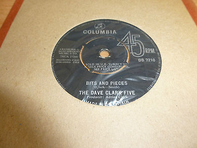 "The Dave Clark Five * 7"" Vinyl* Bits And Pieces * 1964 * Db 7210"