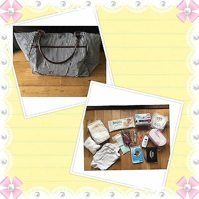 Basic~Unisex Pre Packed Essentials Hospital/Labour/Birth Bag ~ ��