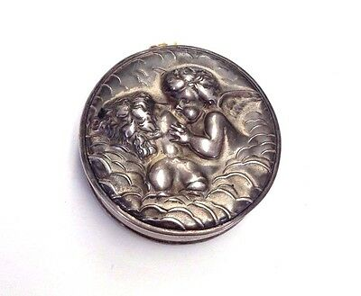 Unger Brothers Loves Dream, Cupid Kissing Lady Sterling Silver Tape Measure