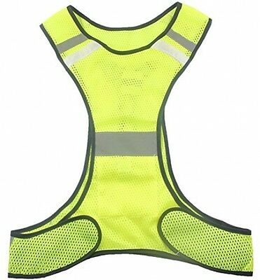 High Visibility LED Lighting Sets Safety Vest Reflective Running Vest Pockets