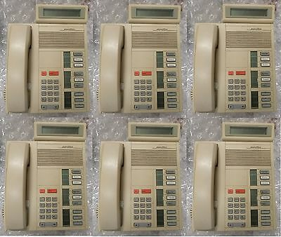 - Lot of 6  Nortel Meridian M5209 / NT4X36  9 Button Display Phone (ASH)