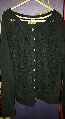 Girls lace navy Next cardigan size 11 years