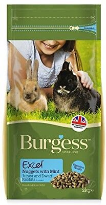Burgess Excel Junior And Dwarf Nuggets With Mint Rabbit Food - 2kg