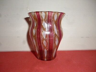 Vintage Murano Small Glass Vase