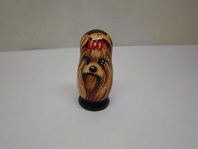 USB Flash Stick 128G.Matryoshka. High quality. Hand-painted Yorkshire Terrier