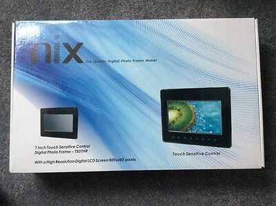 Nix Ts07Hr 7 Inch Digital Photo Frame Touch Sensitive Control Remote Control