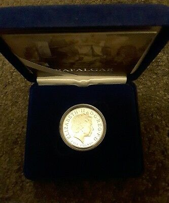 Silver Proof £5 Coin Battle Of Trafalgar 2005