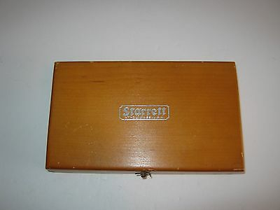 Vintage Starrett 196 Universal Dial Test Indicator in original wood box