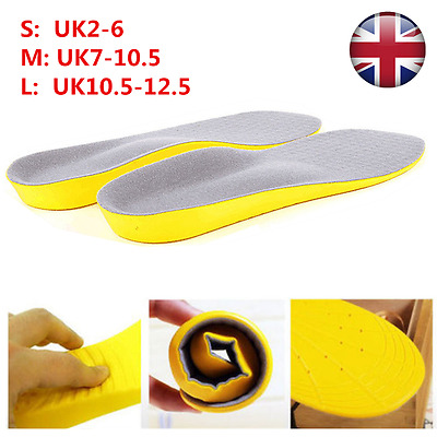 Memory Foam Shoe Insole Feet Arch Support Orthotic Comfort Foot Cushion Insert