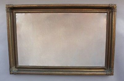 Early 1900's Carved Wood Frame Mirror Antique Turn of the Century Vintage (9639)