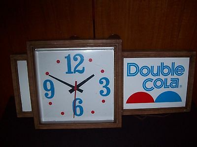 Vintage Double Cola Clock Sign RARE!
