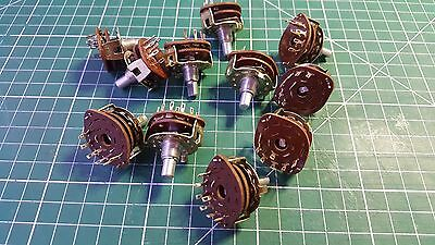 10 X ALPHA ROTARY SWITCH 1 POLE  6 POSITION ROTARY SWITCH , 6mm x 8mm