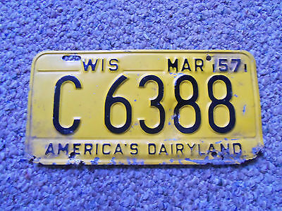 1957-58  Wisconsin License Plate  1957 Chev  57 ford 1957 Plymouth 1957 cadilac
