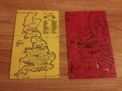 HELIX INTL THICK PLASTIC TEMPLATE 1976 MAP OF GREAT BRITAIN & EUROPE Collectable
