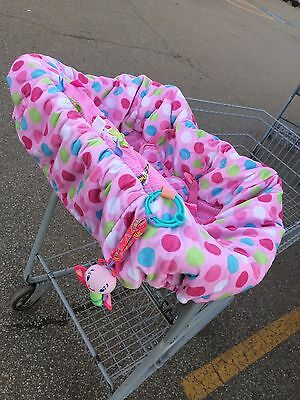 Infant Baby Girls Pink Taggies Shopping Cart Buggy Cover