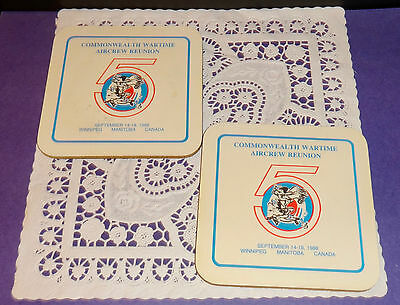 Vintage 2 Coasters Commonwealth Wartime Aircrew Reunion 1988 Winnipeg Manitoba