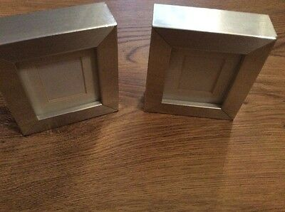 Two lovely small silver effect photo frames Ikea