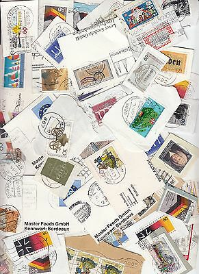 Germany Commemoratives only Kiloware - stamps on paper 225grms.(Mid 80's)