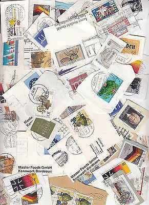 Germany Commemoratives only - Kiloware - stamps on paper 470grms.(Mid 80's)