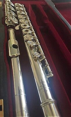 Edward Almeida #459 Solid Silver Flute for sale - Rare and beautiful example