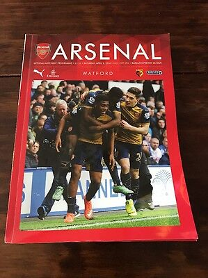 Arsenal Vs Watford Program