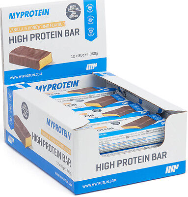 12x 80g High Protein Bar Riegel MyProtein 30g Eiweiß Vanilla Honey Vanille Honig