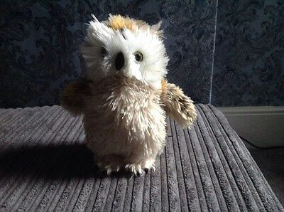 Lovely  Soft Toy Owl By Ark Toys Premier Collection, Plush Fluffy Owl.