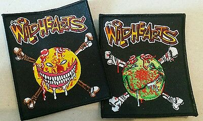 The Wildhearts Embroidered Patch set Yellow + Green Smiley Bones - Ginger LP