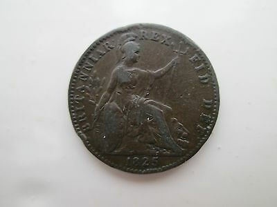 1825 George IV Farthing Coin