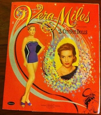 Vera Miles 1957 Vintage Celebrity Paper Doll Movie Star Cut Outs
