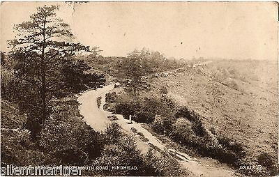 Hindhead, Sailors Stone & Portsmouth Road, old b+w postcard, posted 1936