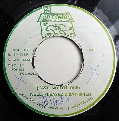 """Reggae/Ska 7"""" WELL PLEASED & SATISFIED - FAST MOUTH ONE - UPTOWN RECORDS - MP3"""