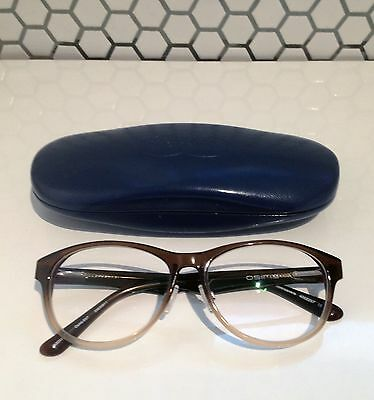 Two tone frame glasses with case