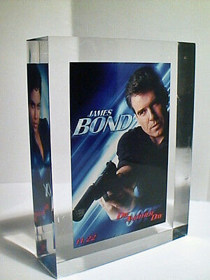 Rare Die Another Day 2002 James Bond Film Promo Ad Lucite Embedded Block Nfsi Ex