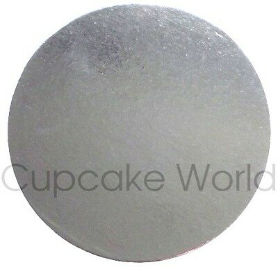 "New! 8"" Pack Of 1Pc Silver Round Cardboard Cake Boards For Craft Cakes Cupcakes"