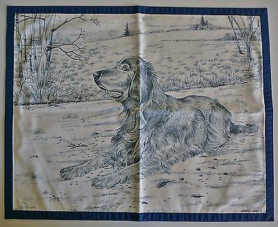 NEUF Set table COLLECTOR Chien Setter HERMES Dog Table mat NEW