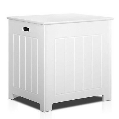 Home Clothes Laundry  Storage Box White Modern Durable Bathroom Cabinet