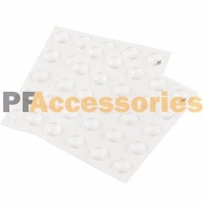 50 Pcs  Self Adhesive Stick Rubber Noise-Dampening Buffer Bumper Pad Round Clear