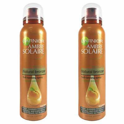 2x 150ml Garnier Ambre Solaire Natural Bronzer Self Tanning Fake Tan Spray Body