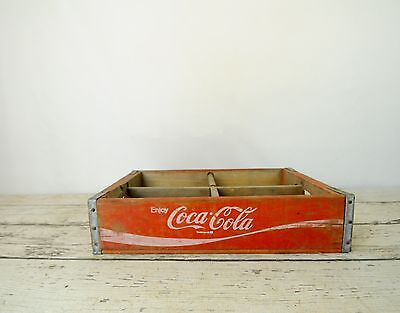 Vintage Red Coca Cola Beverage Wood Crate Coke Soda Pop Wood Box Crate