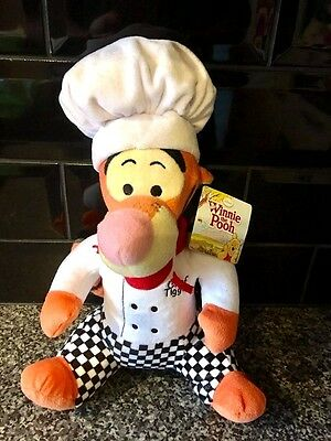 """Disney Winnie The Pooh 12"""" CHEF TIGGER With Tag, Soft Plush Collectable Toy"""
